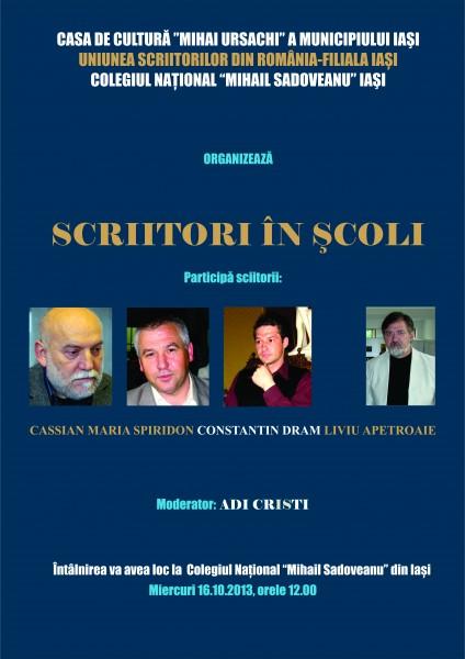 scriitori in scoli sadoveanu