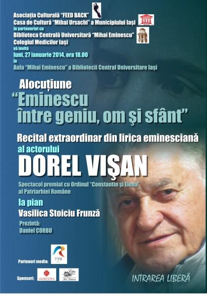 Afis Dorel Visan interpretare Eminescu curbe (1)