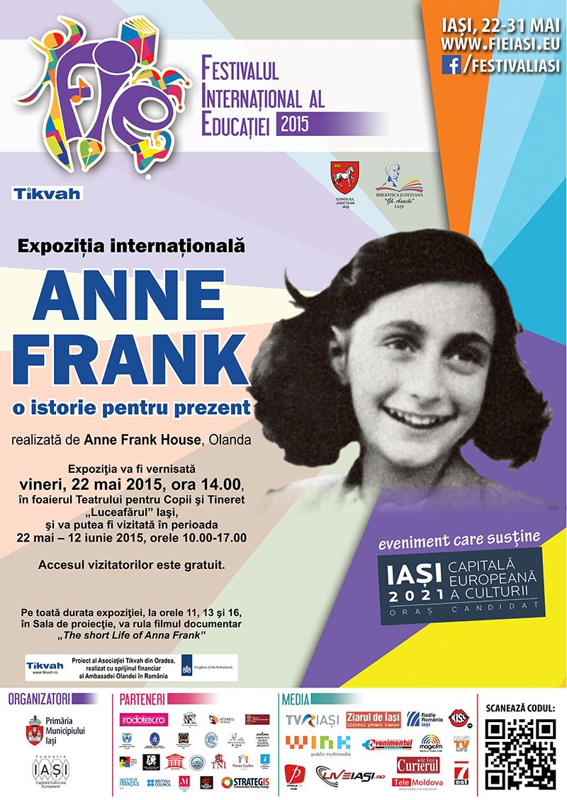 """Expoziția internațională """"Anne Frank – O istorie pentru prezent"""",eveniment în cadrul FIE 2015"""