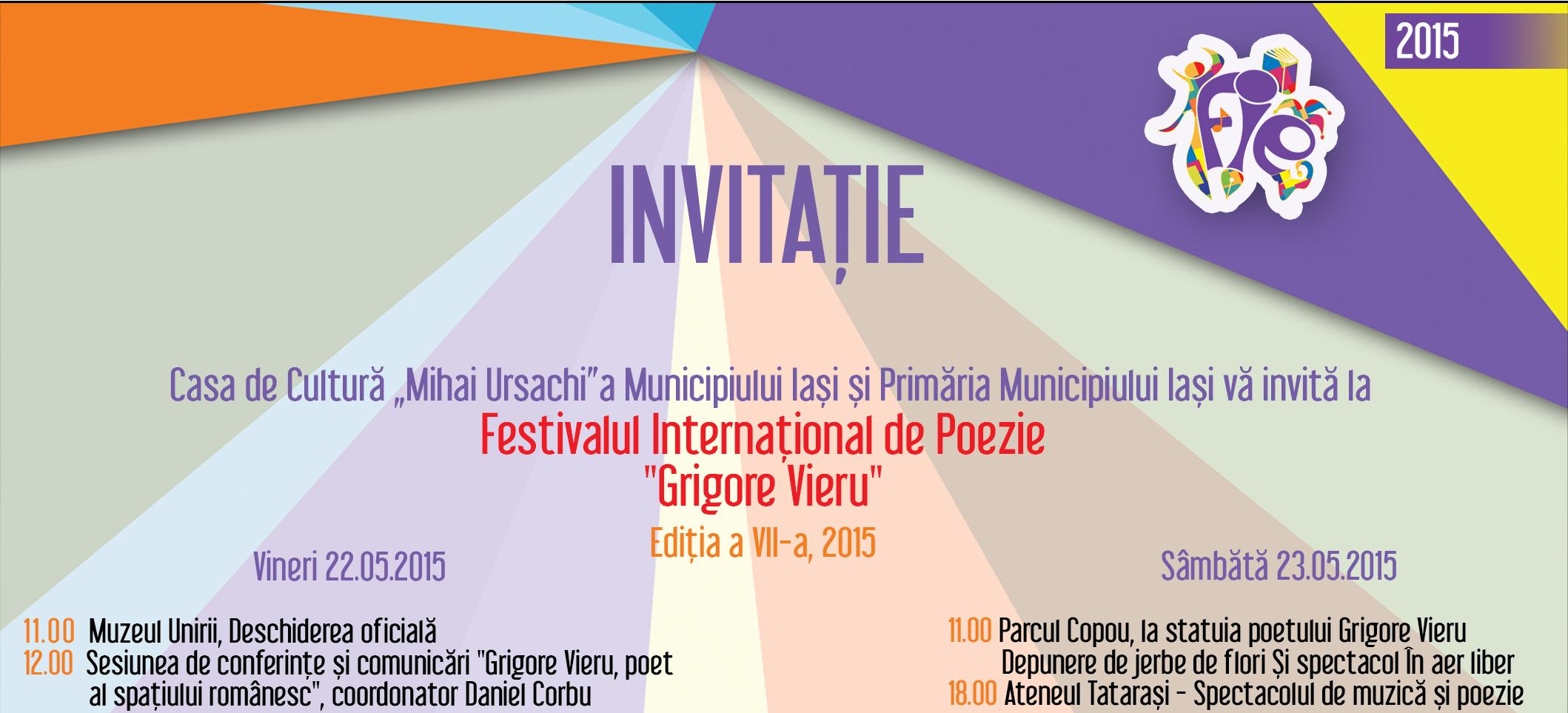 """Festivalului Internațional de Poezie """"Grigore Vieru"""""""