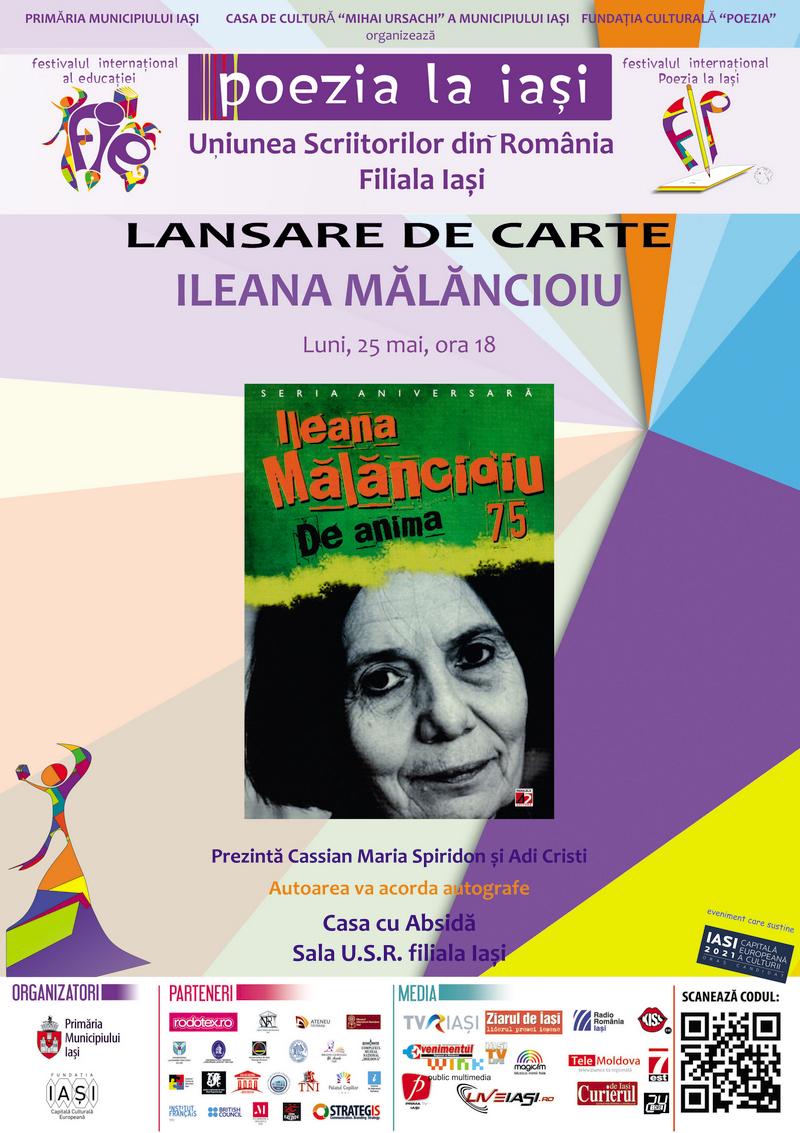 Lansare de carte Ileana Mălăncioiu 75. De anima