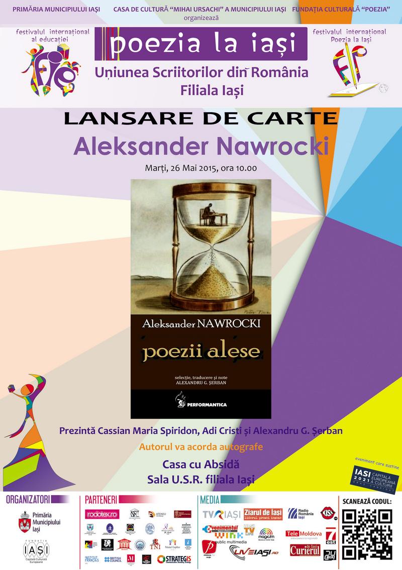 """Lansare de carte """"Poezii alese"""", autor Aleksander Nawrocki"""