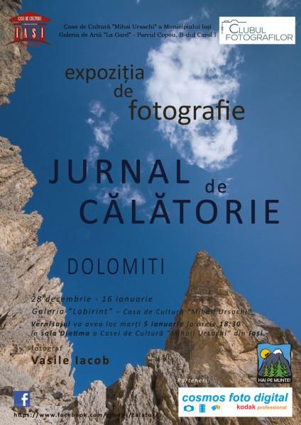 """Vasile Iacob • """"Jurnal de călătorie - Dolomiţi"""" –Expoziţie de fotografie"""