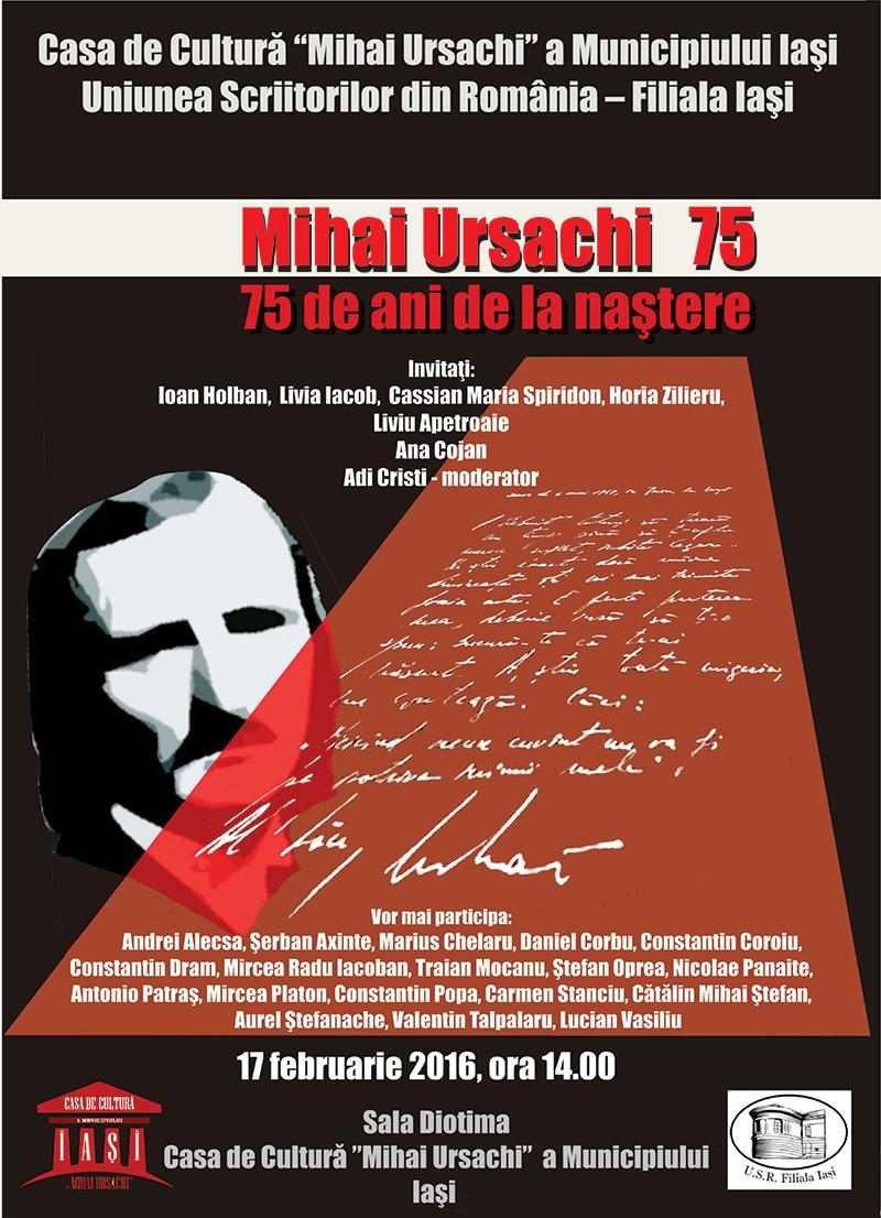 Comemorarea a 75 de ani de la nașterea Magistrului Mihai Ursachi