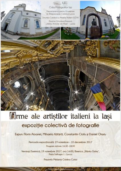 Urme ale artistilor italieni la Iasi - afis(romana)-2